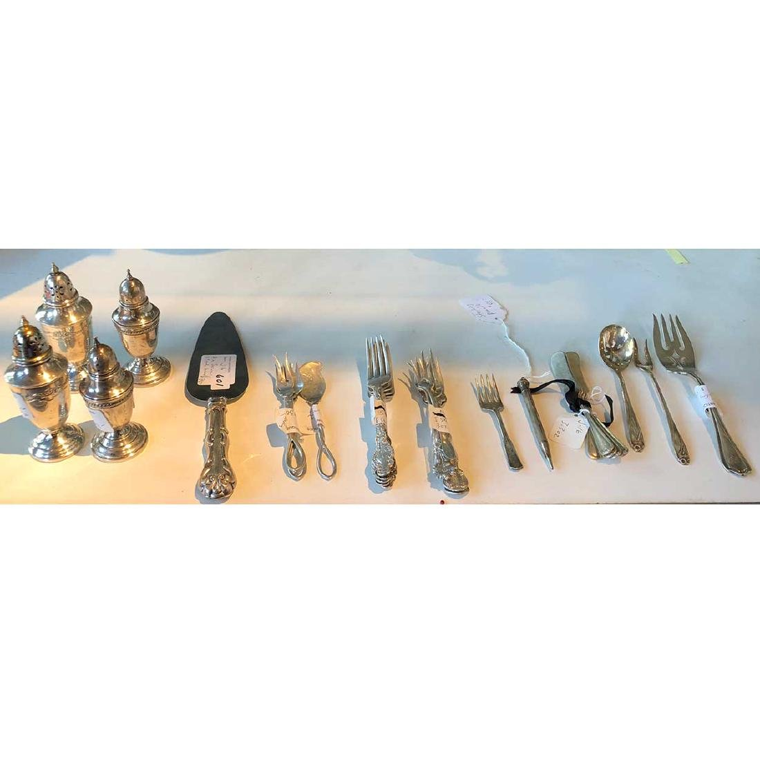 31 Pieces of Silver Holloware and Flatware Pieces