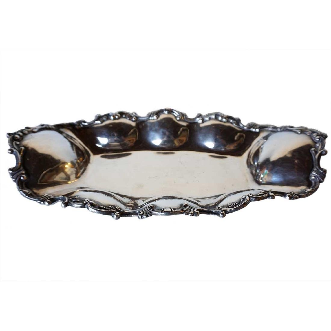 Vintage Mexican Sterling Silver Bread Tray