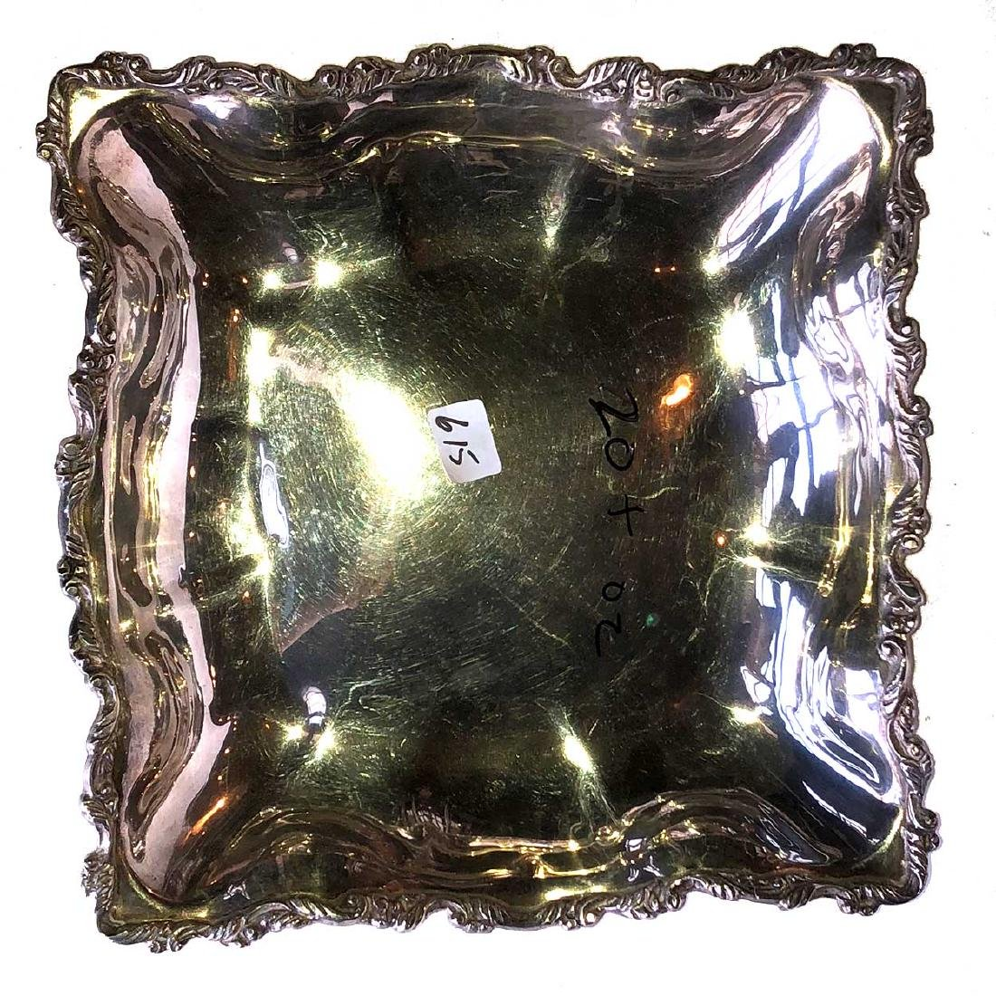 Vintage Mexican Sterling Silver Square Serving Dish