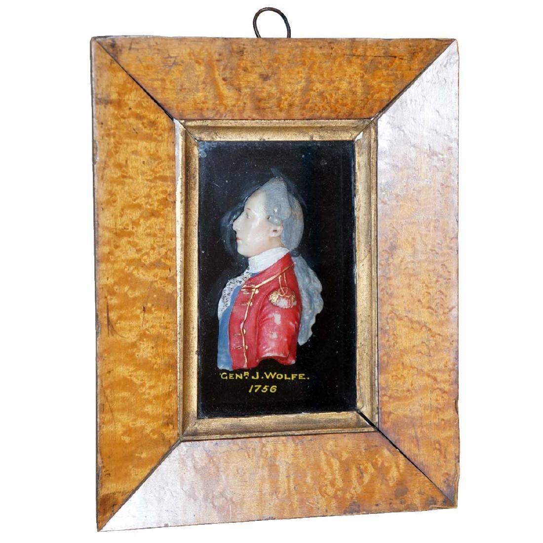 English George III Wax Portrait