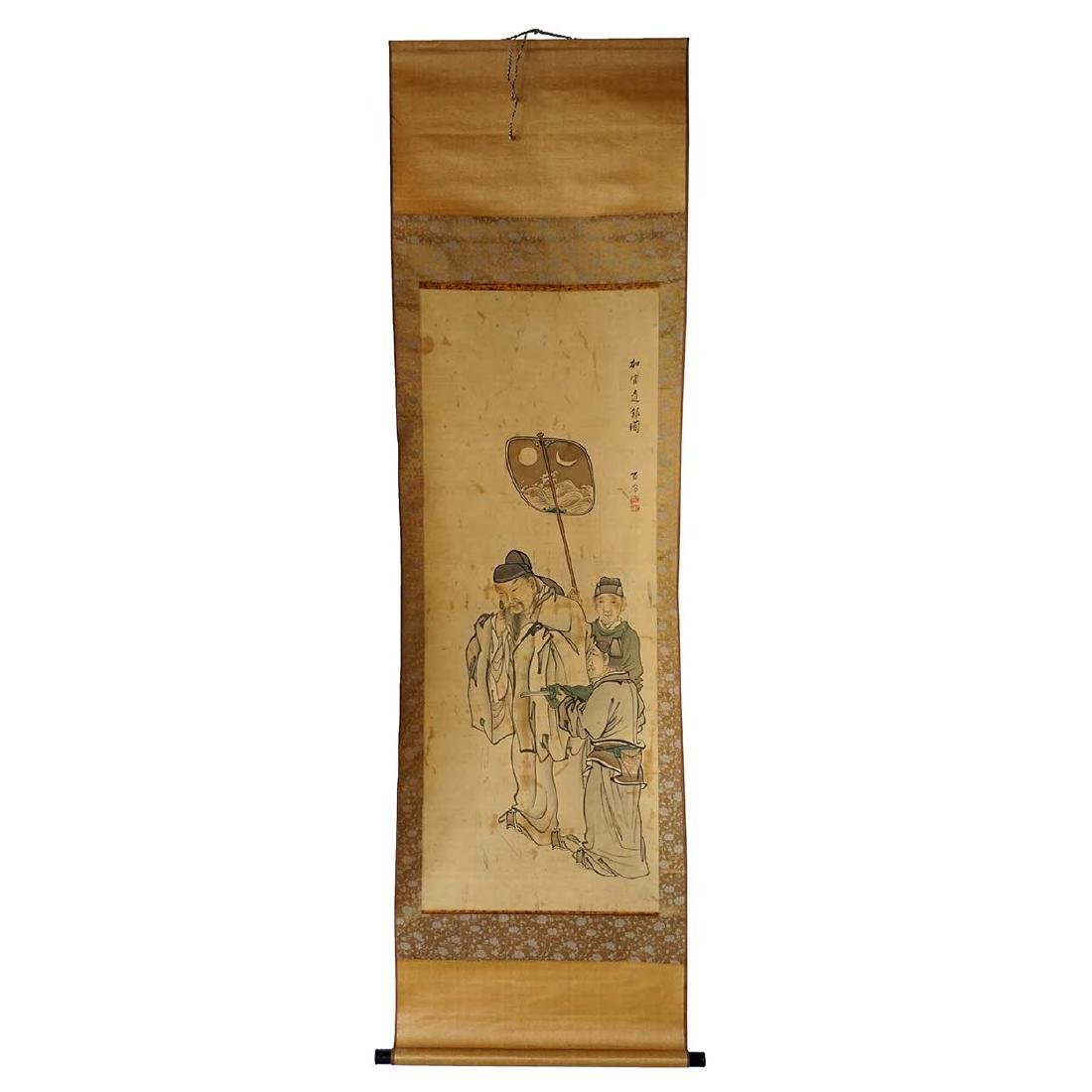Vintage Japanese Scroll Painting (Kakejiku)