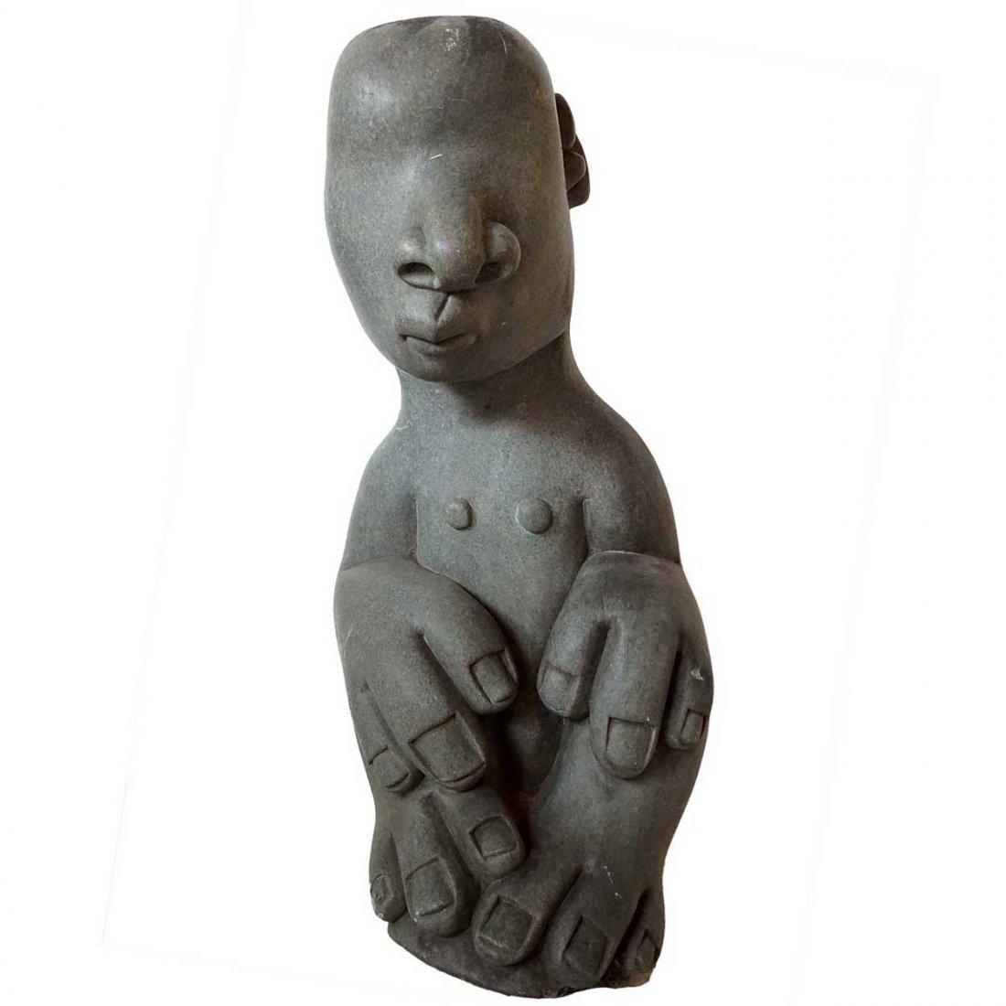 BERNARD MATEMERA Large Stone Shona Sculpture Figure