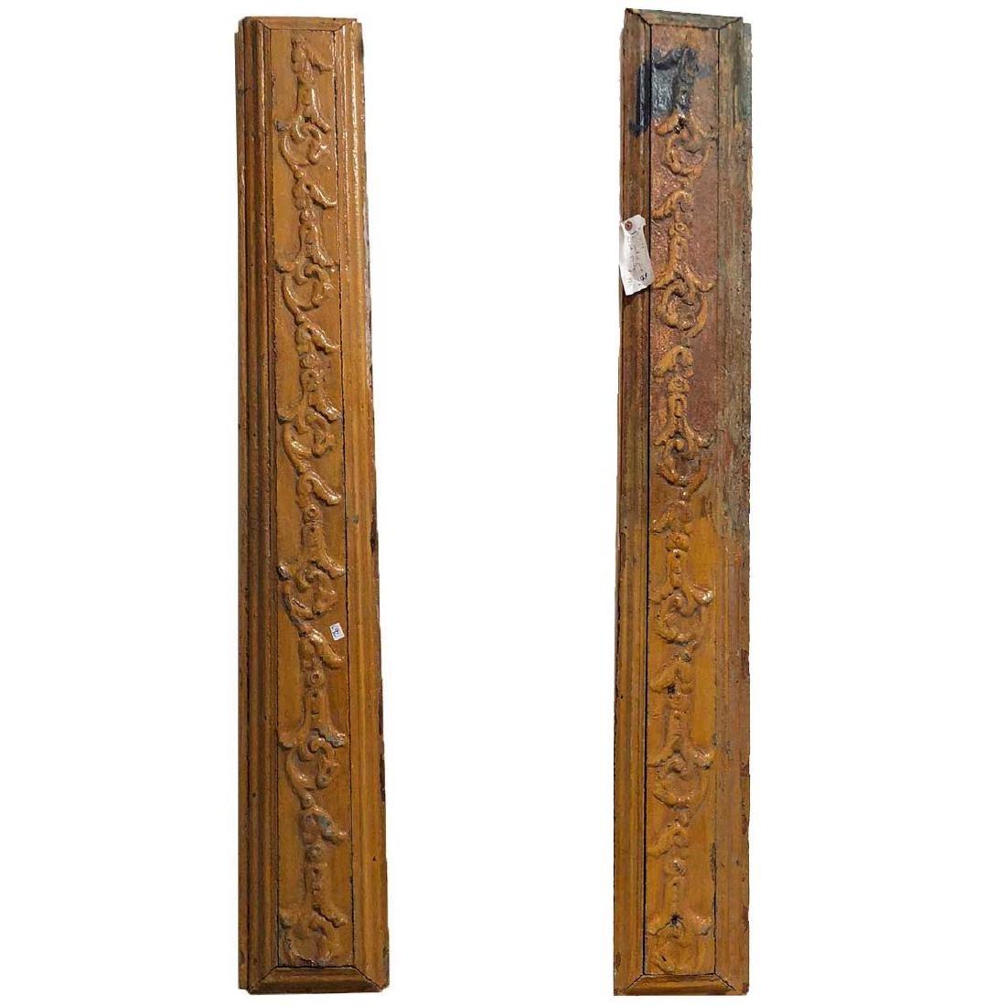 Pair of American Pine Carved Panels