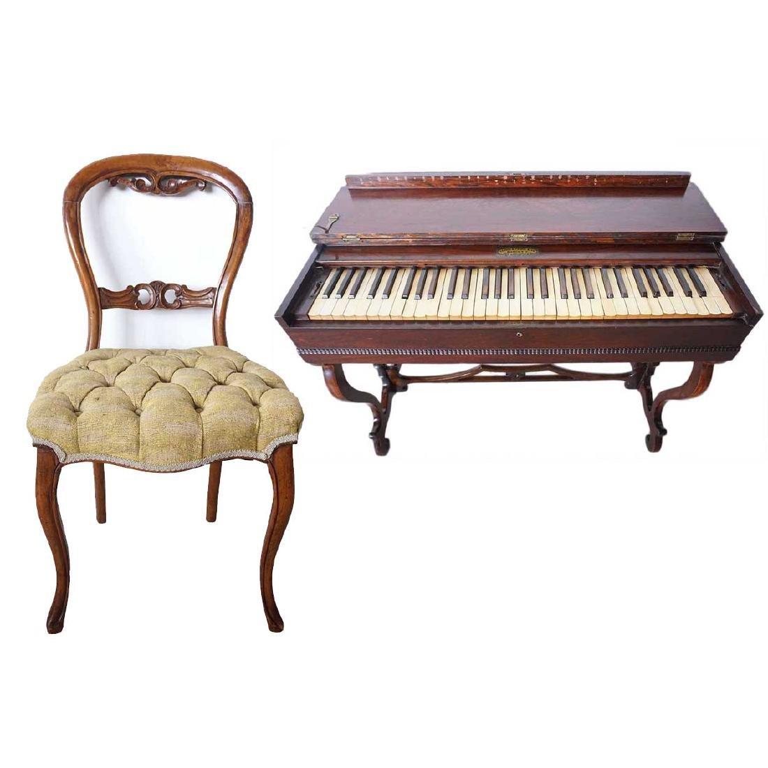 American Victorian Prince Organ & Balloon Back Chair