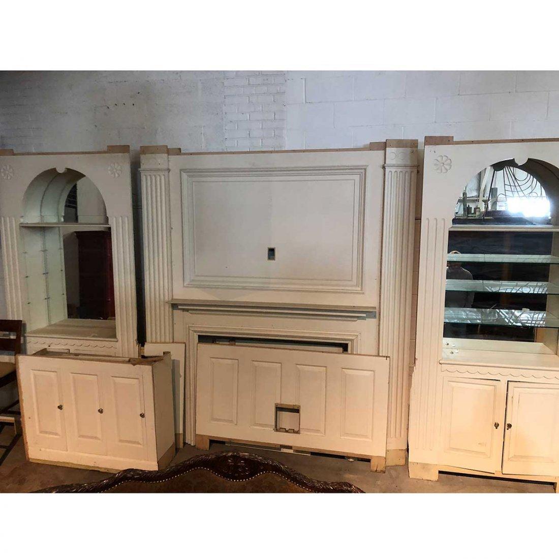 American Belcaro Mansion Fireplace Trumeau + Paneling