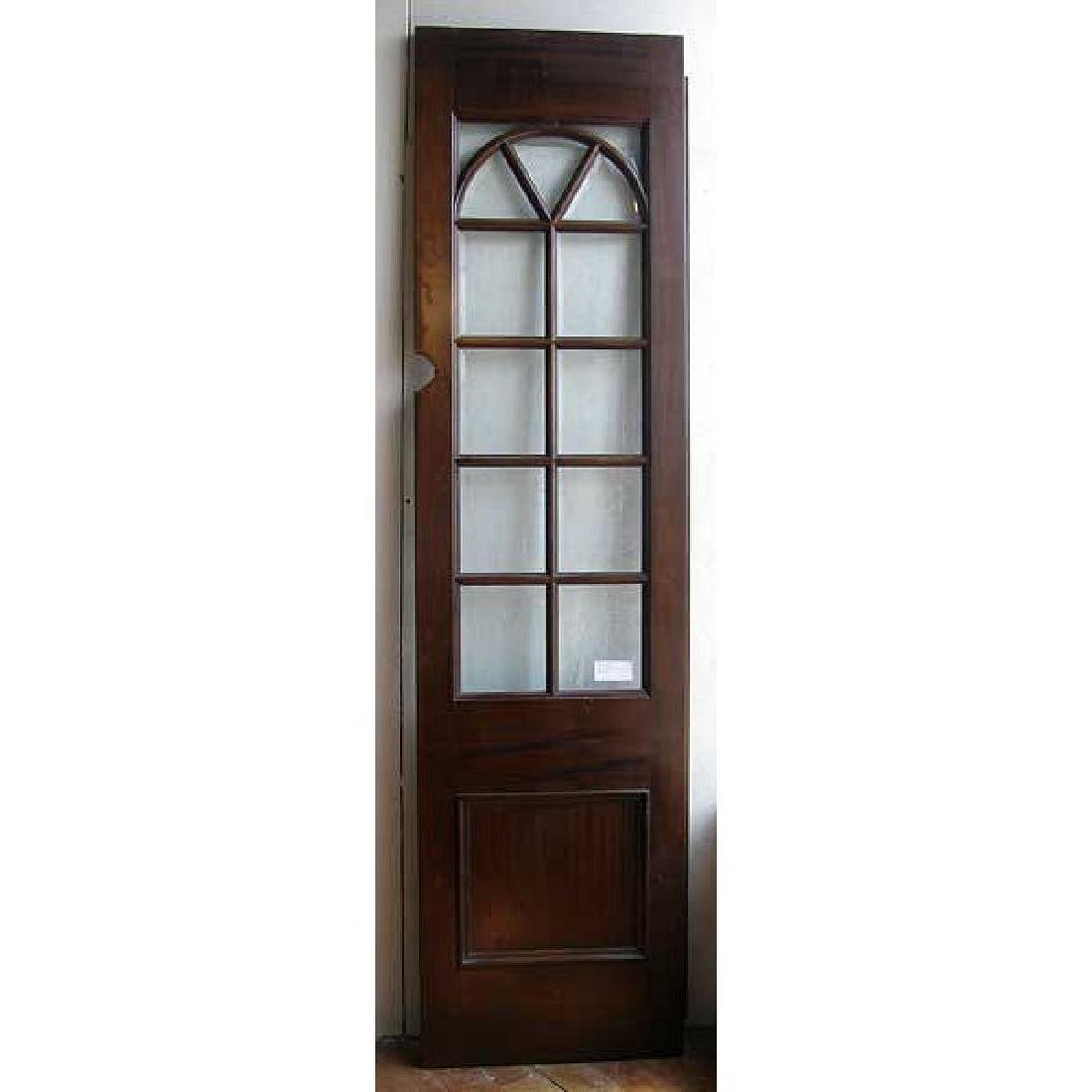 Mahogany & Beveled Glass Single French Door