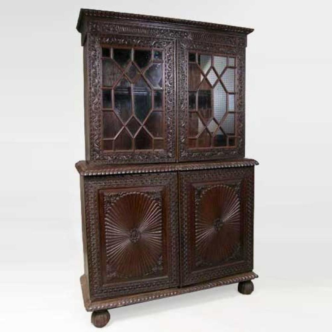 Anglo Indian Rosewood Step-back Cabinet