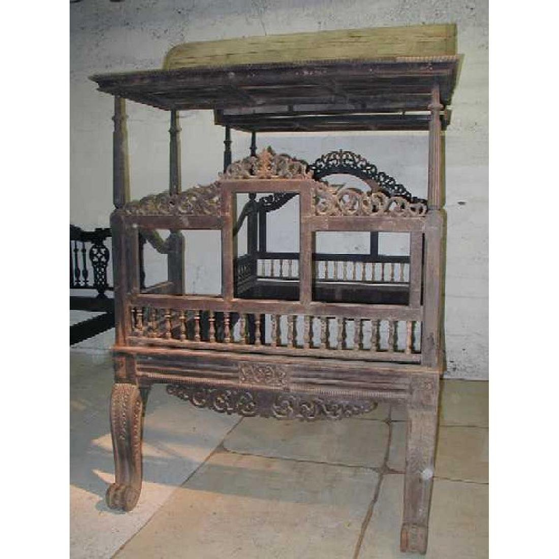 Anglo Indian Regency Period Canopy Bed
