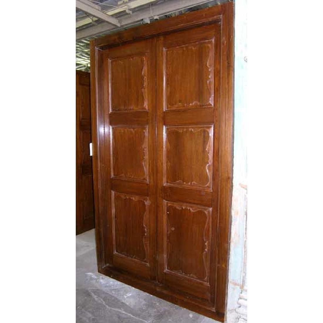 Large Anglo Indian Teak Interior Double Door
