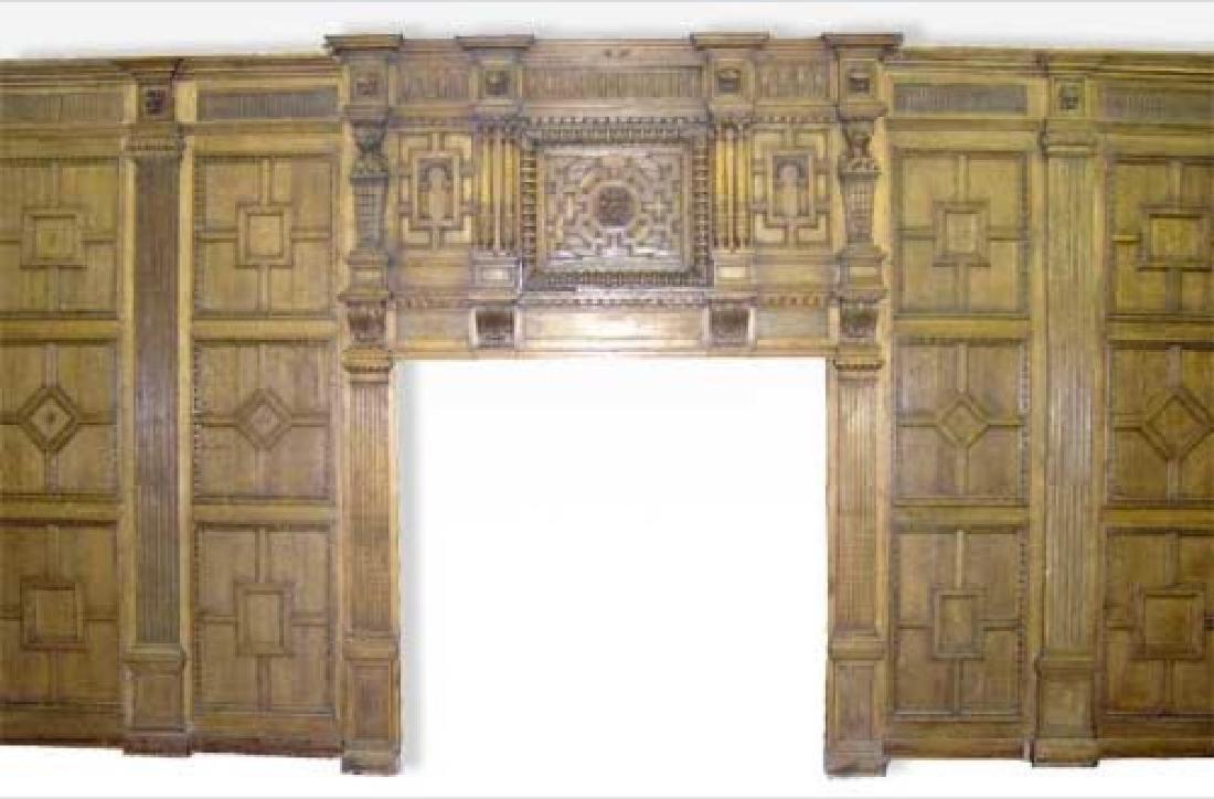 Rare English Tudor Broke Hall Paneled Room