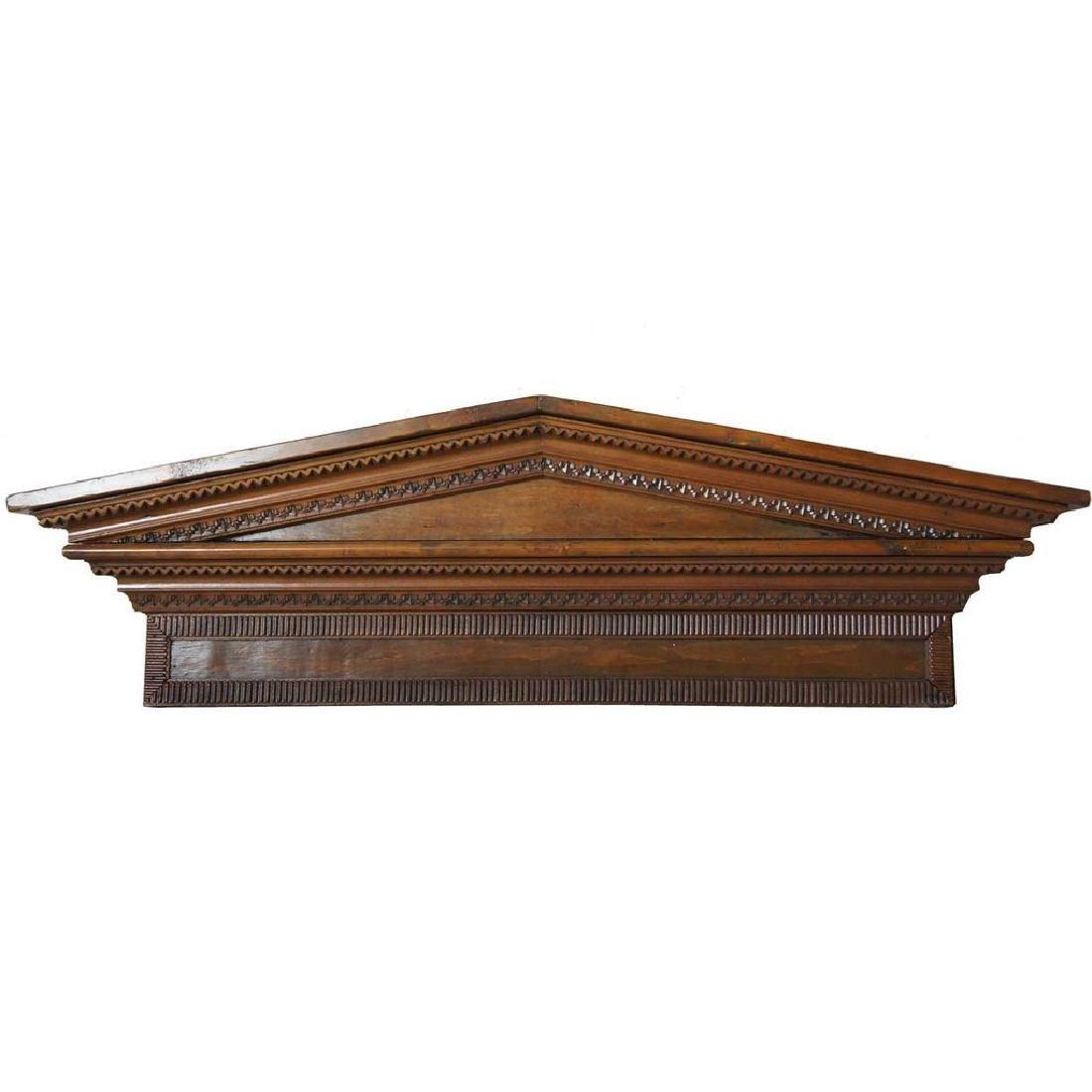 Victorian Neoclassical Pine Architectural Pediment