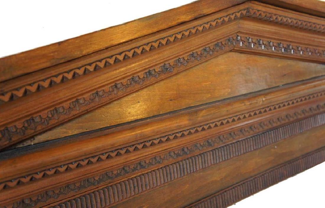 Victorian Neoclassical Pine Architectural Pediment - 2