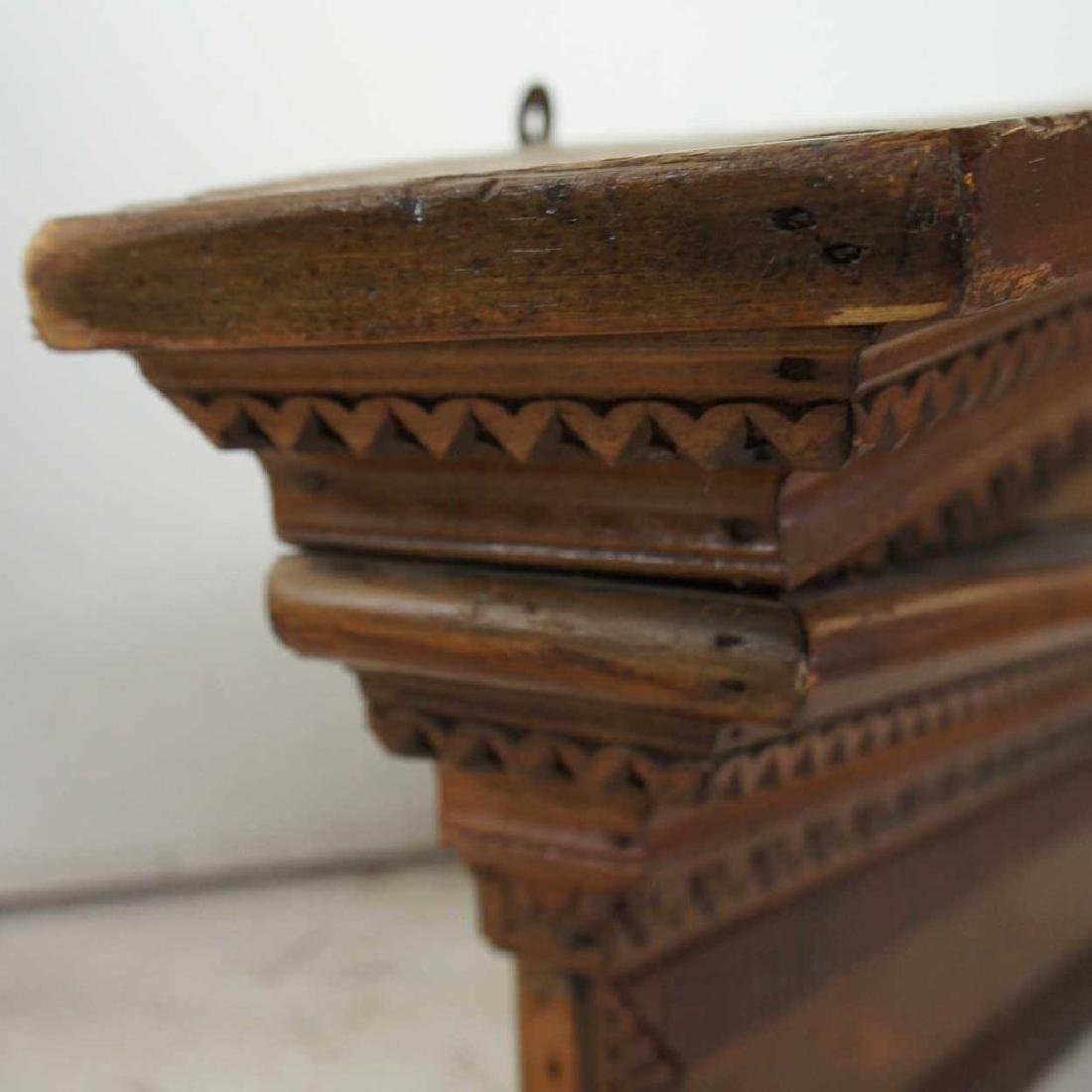Victorian Neoclassical Pine Architectural Pediment - 3