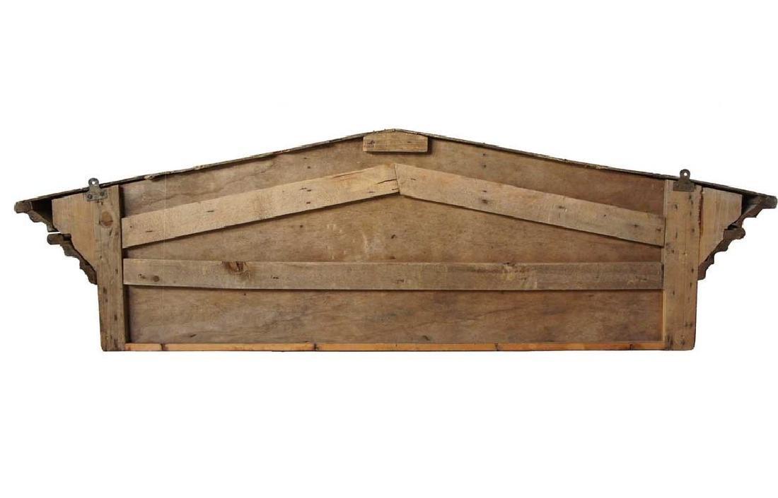 Victorian Neoclassical Pine Architectural Pediment - 4