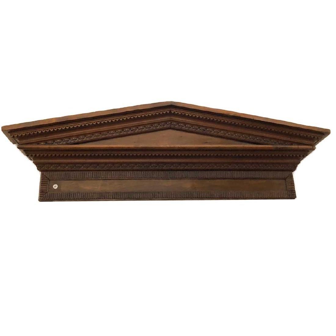 Victorian Neoclassical Pine Architectural Pediment - 5