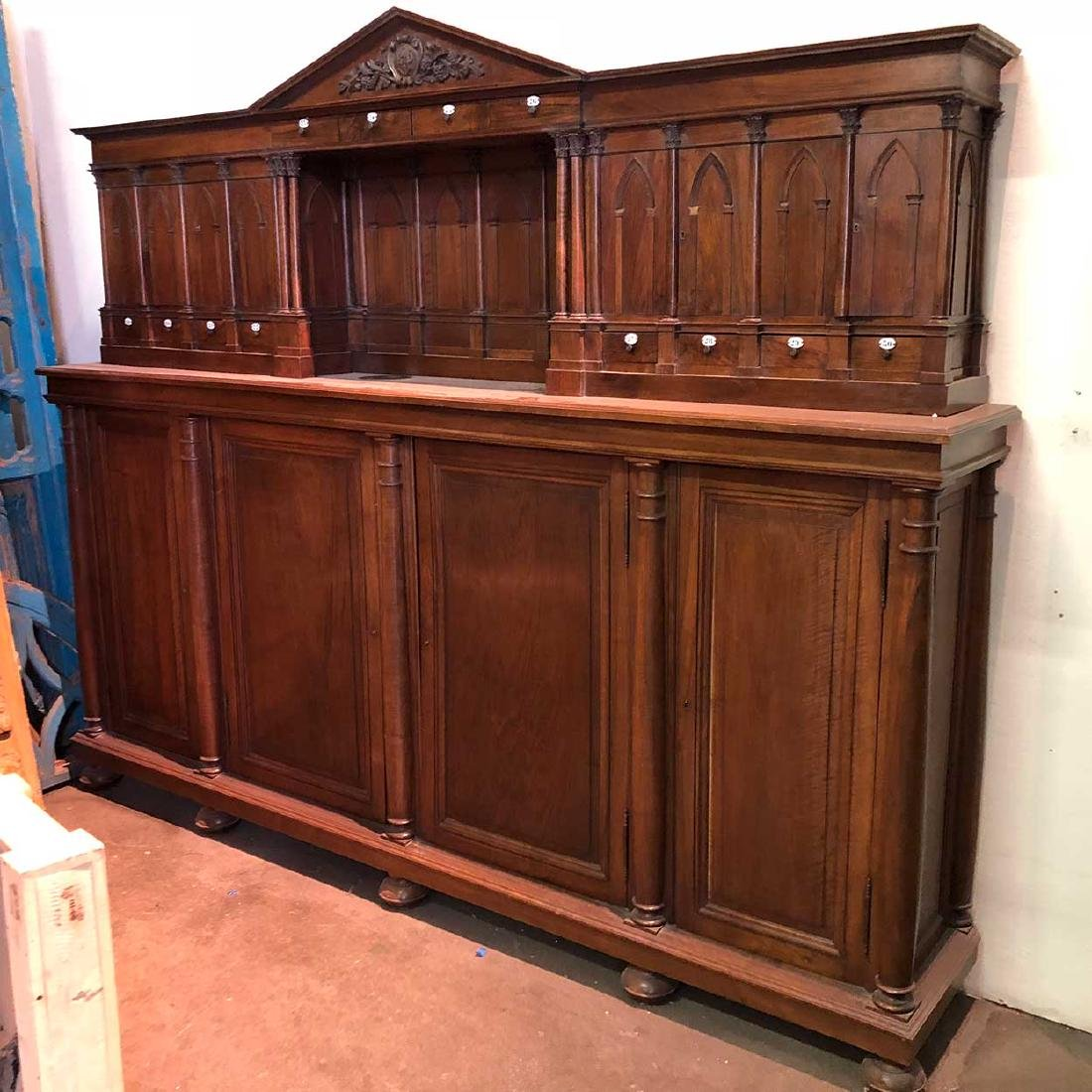 Large French Louis XIII Style Walnut Cabinet