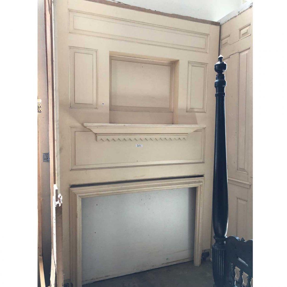 American Belcaro Mansion Fireplace & Paneling