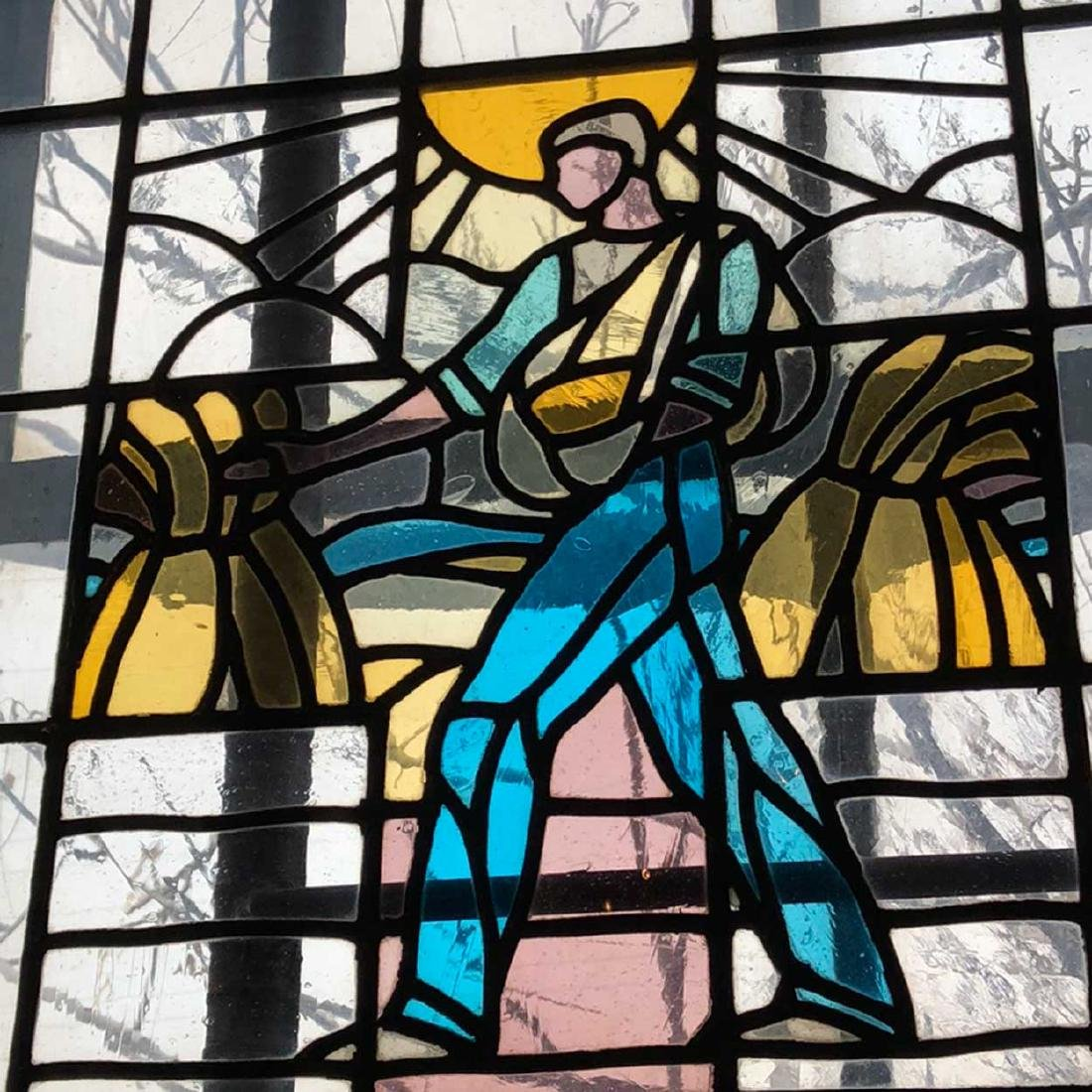 Art Deco Stained and Leaded Glass Window - 2