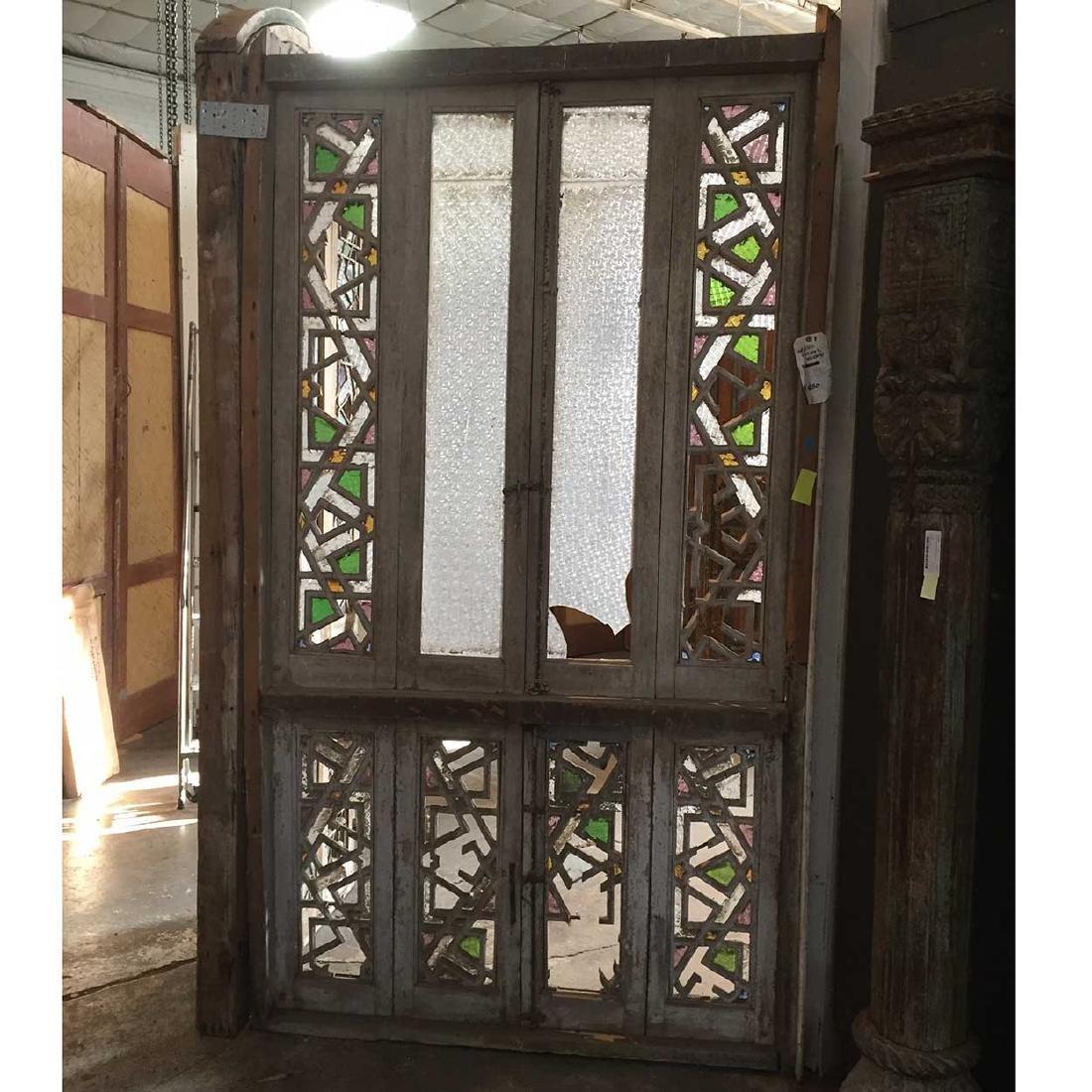 Moorish Pine Fretwork Arched Window