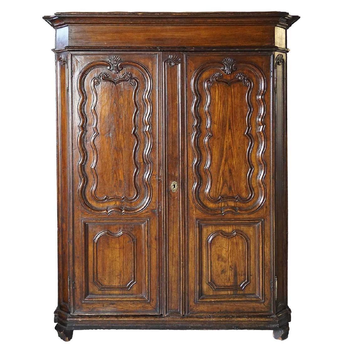 French Louis XV Oak Armoire