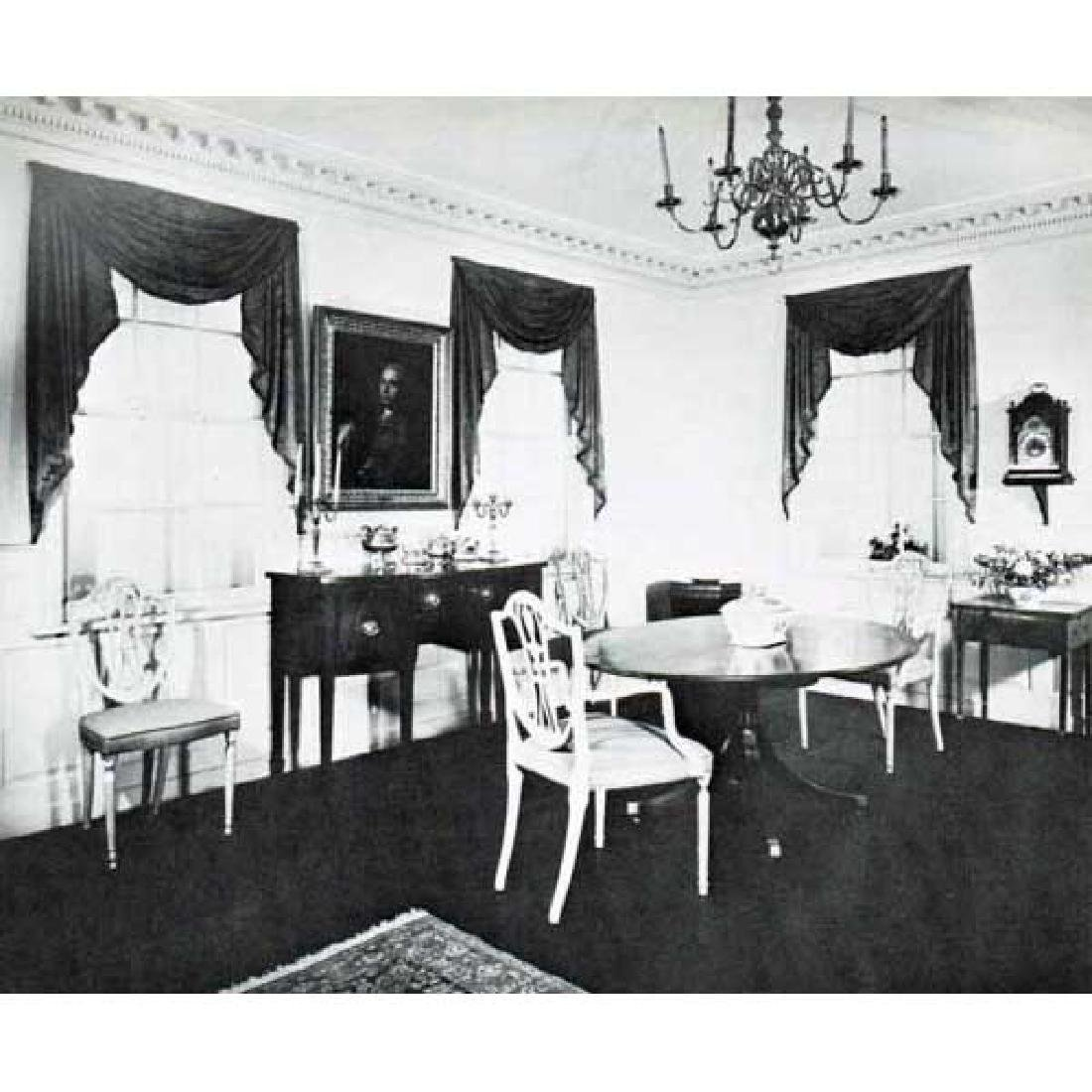 American Colonial Russell House Pine Paneled Room