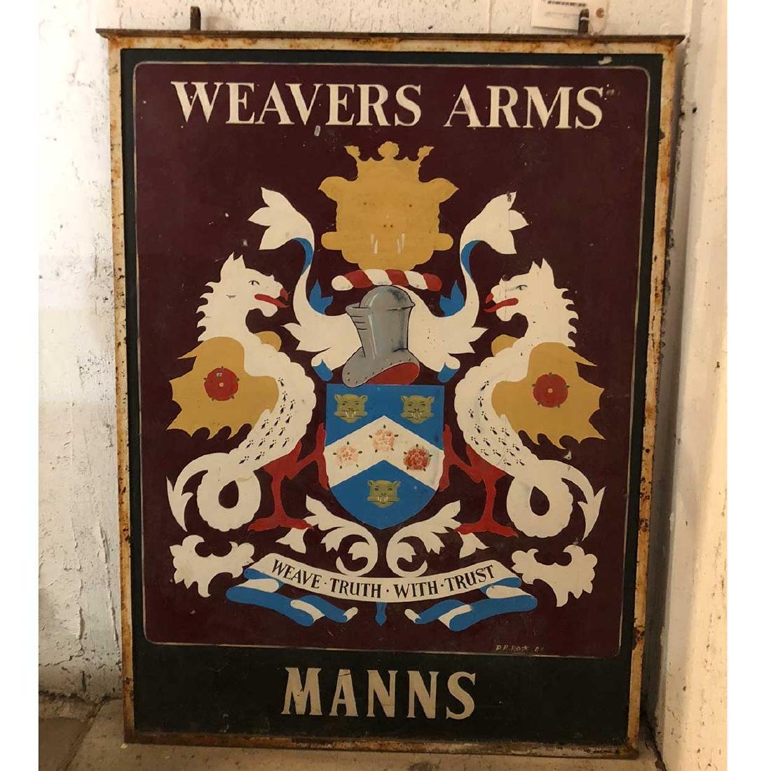 English Painted Metal Pub Sign