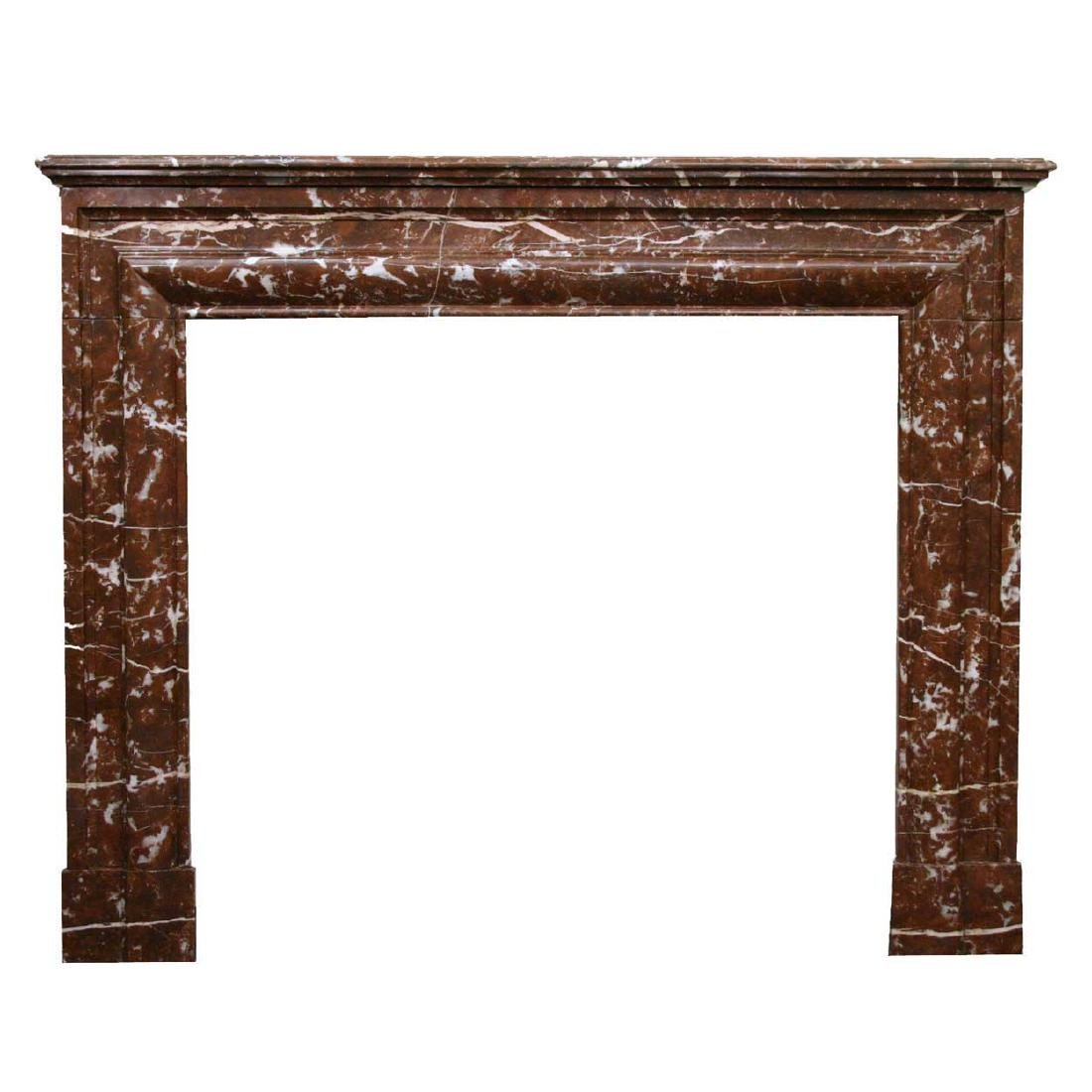 French Rouge Royale Marble Fireplace Surround