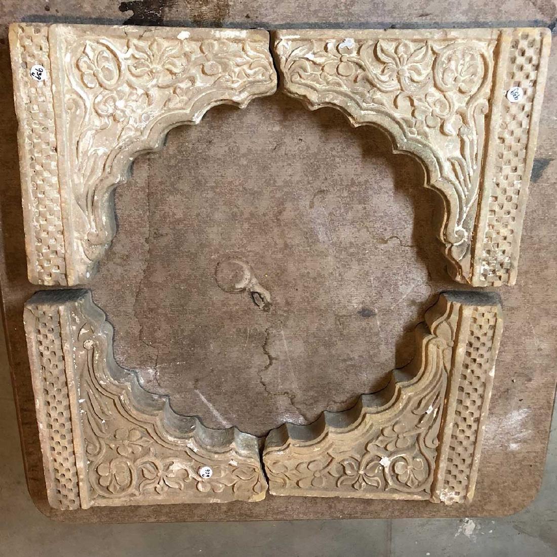 Four Indian Sandstone Architectural Brackets