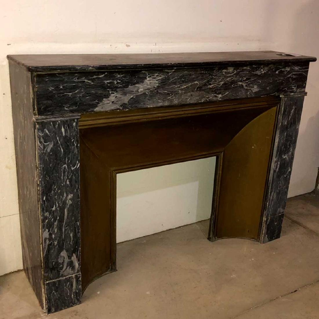 French Empire Marble Fireplace Surround