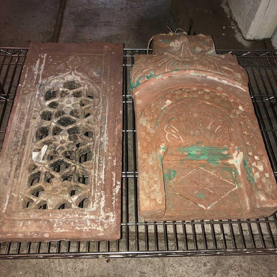 Indian Rajasthani Sandstone Window Screens and Niche