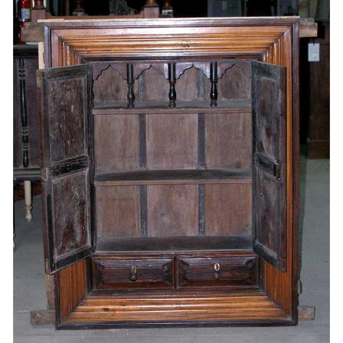 Indian Goan Rosewood & Satinwood Wall Cabinet - 3