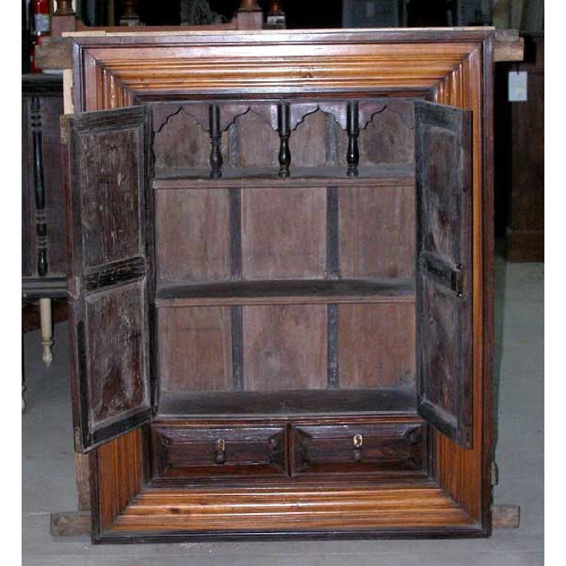 Indian Goan Rosewood & Satinwood Wall Cabinet - 3