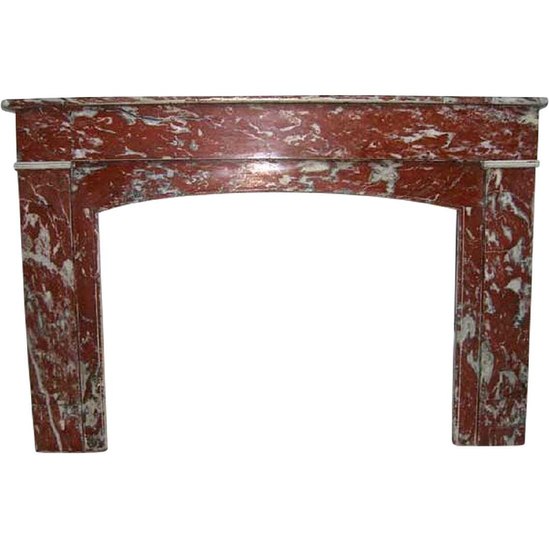 French Louis Philippe Rouge Royale Marble Fireplace Sur
