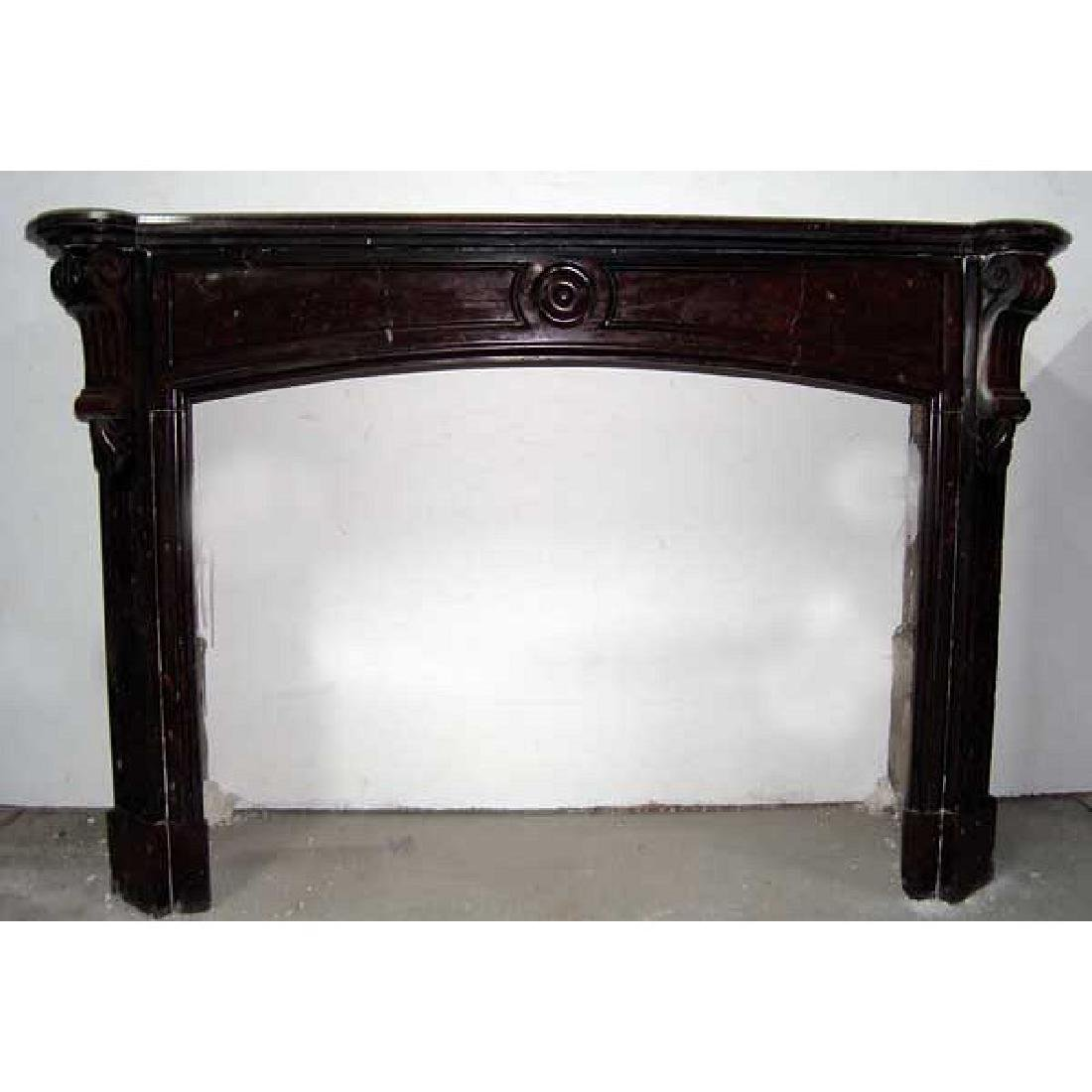 French Louis Philippe Red Marble Fireplace Surround