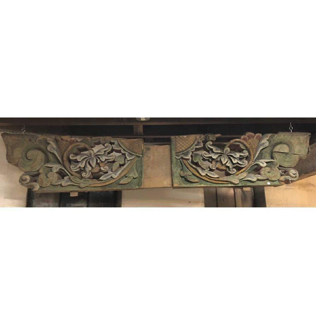 Chinese Shanxi Province Poplar Architectural Carving