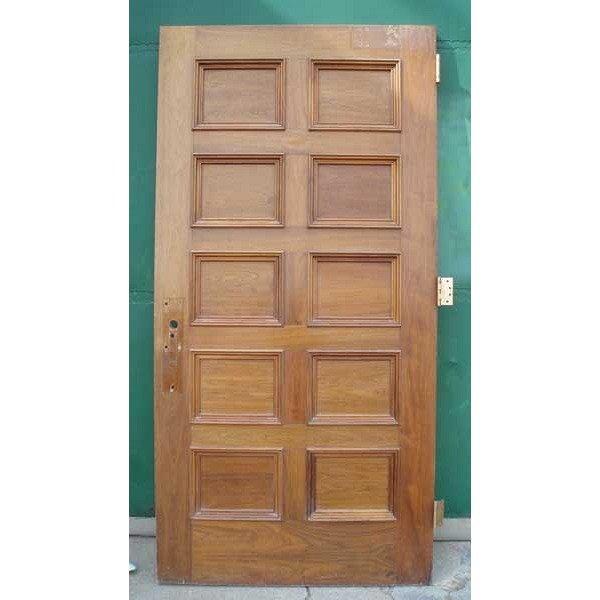 2 American Walnut Paneled Single Doors - 2