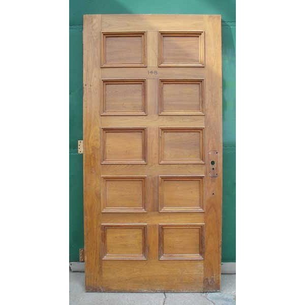 2 American Walnut Paneled Single Doors - 3