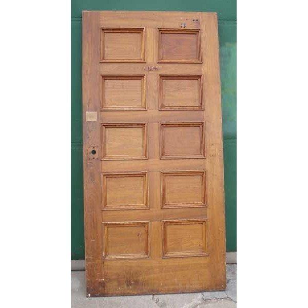 2 American Walnut Paneled Single Doors - 4