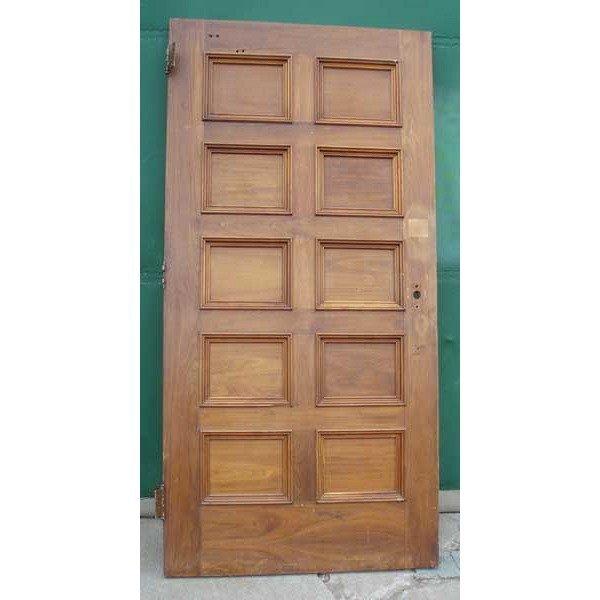 2 American Walnut Paneled Single Doors - 5