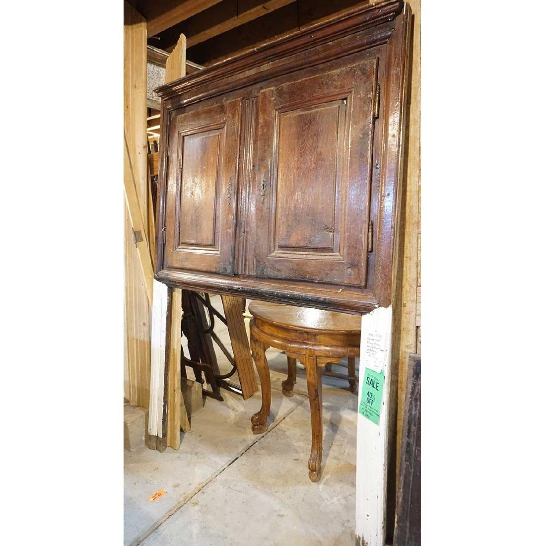 French Provincial Solid Oak Cabinet Fireplace Trumeau