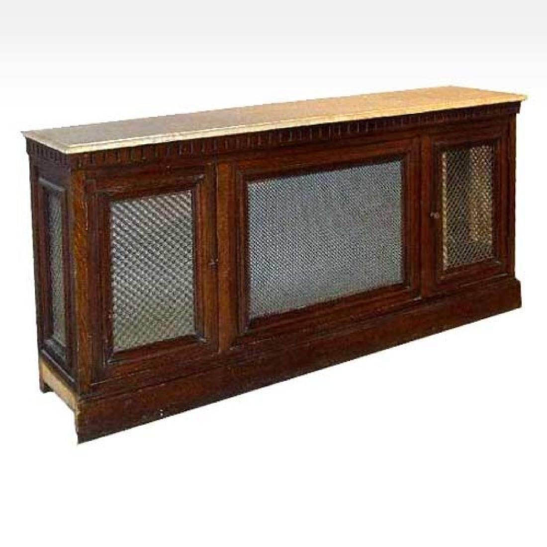 Victorian Marble Top Paneled Radiator Cover