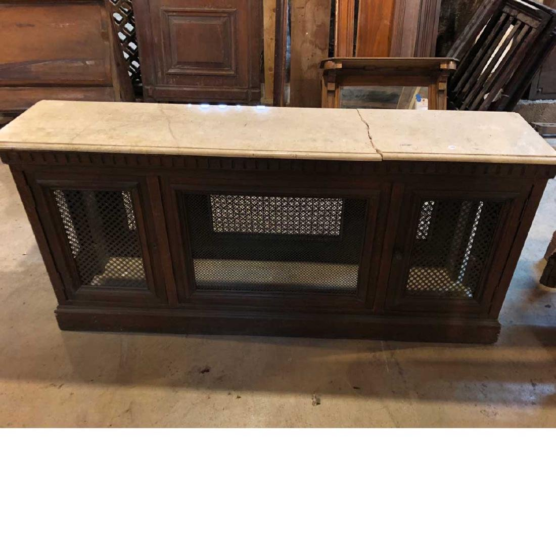 Victorian Marble Top Paneled Radiator Cover - 2