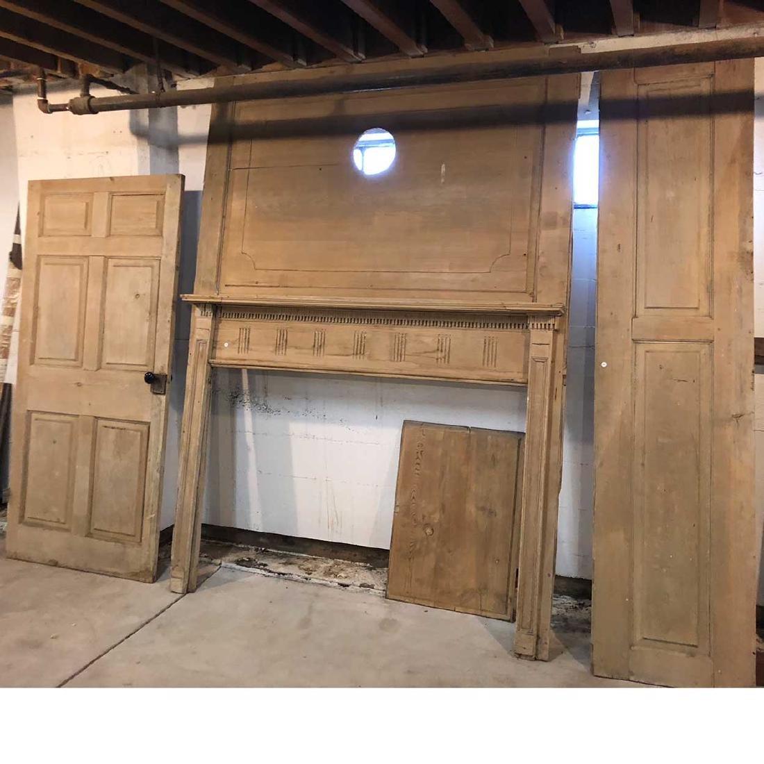 American New England Pine Fireplace & Room Paneling