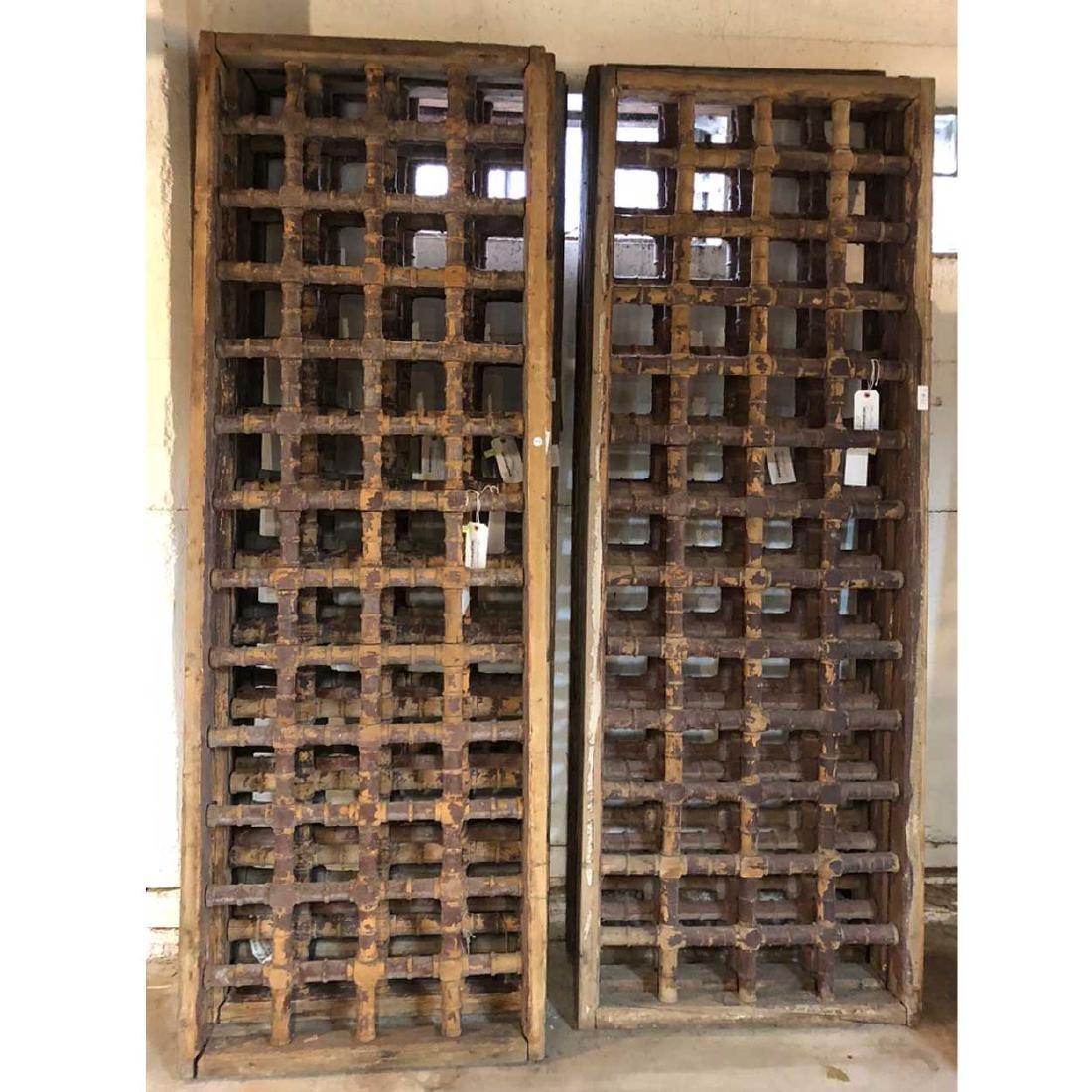 4 Moorish Pine Spindlework Window Grille Panels
