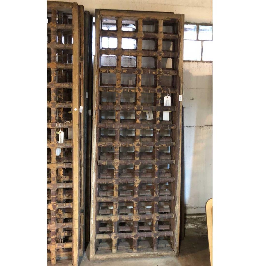 3 Moorish Pine Spindlework Window Grille Panels
