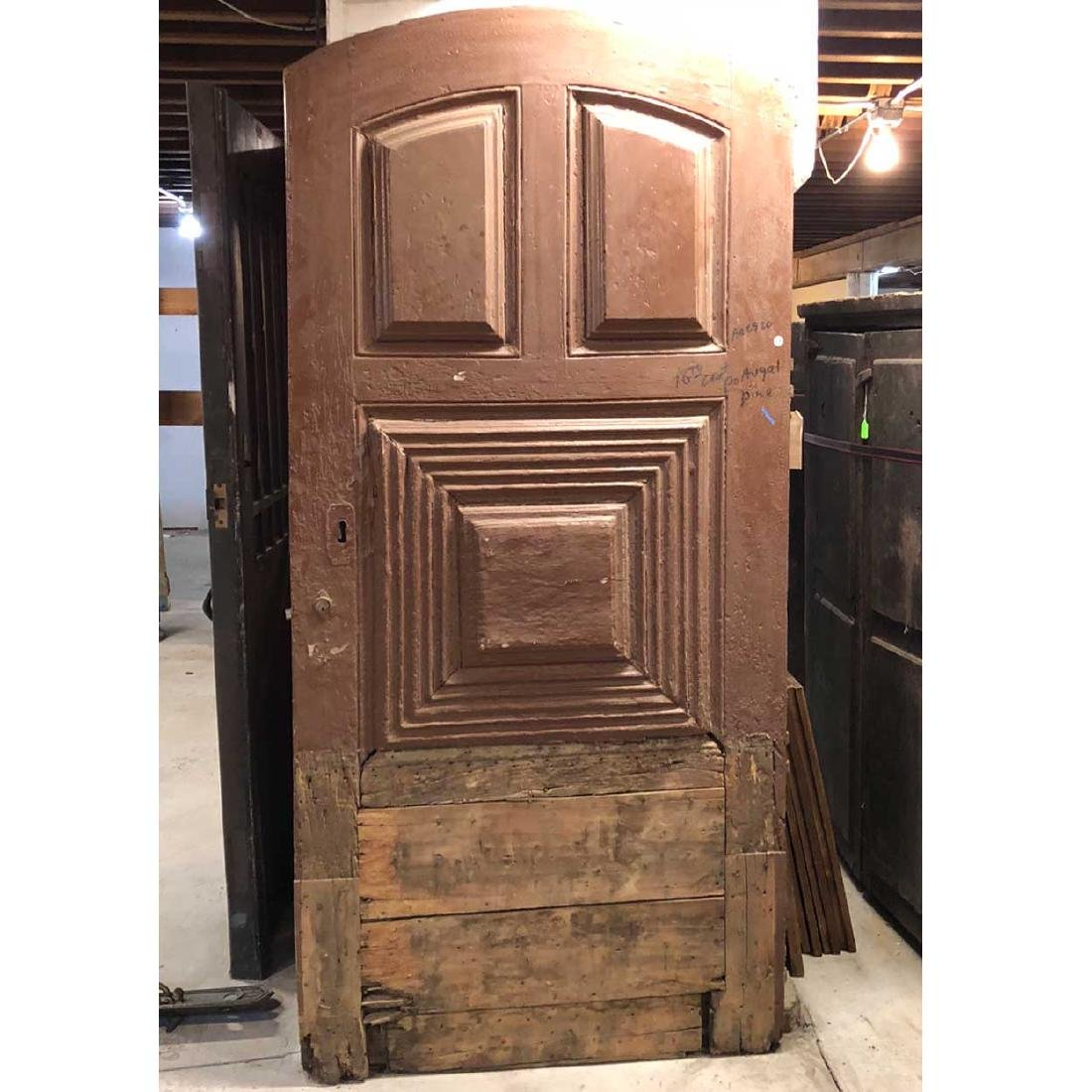 Portuguese Pine Arched Single Door