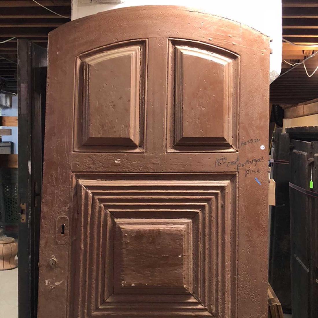 Portuguese Pine Arched Single Door - 2