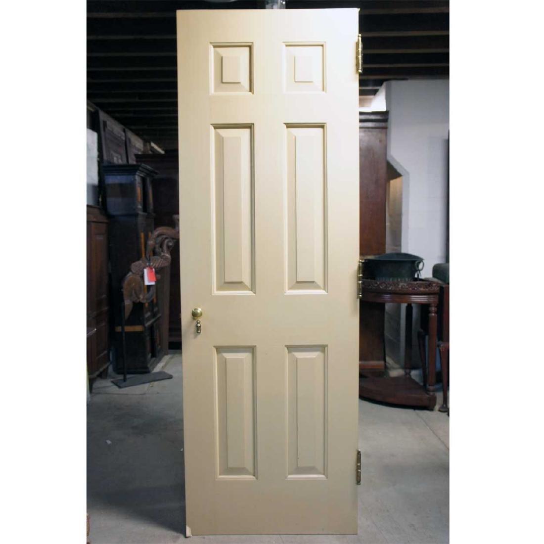 American Georgian Style Painted Pine/Poplar Single Door
