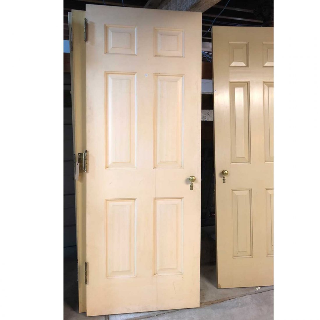 3 American Georgian Style Painted Single Doors
