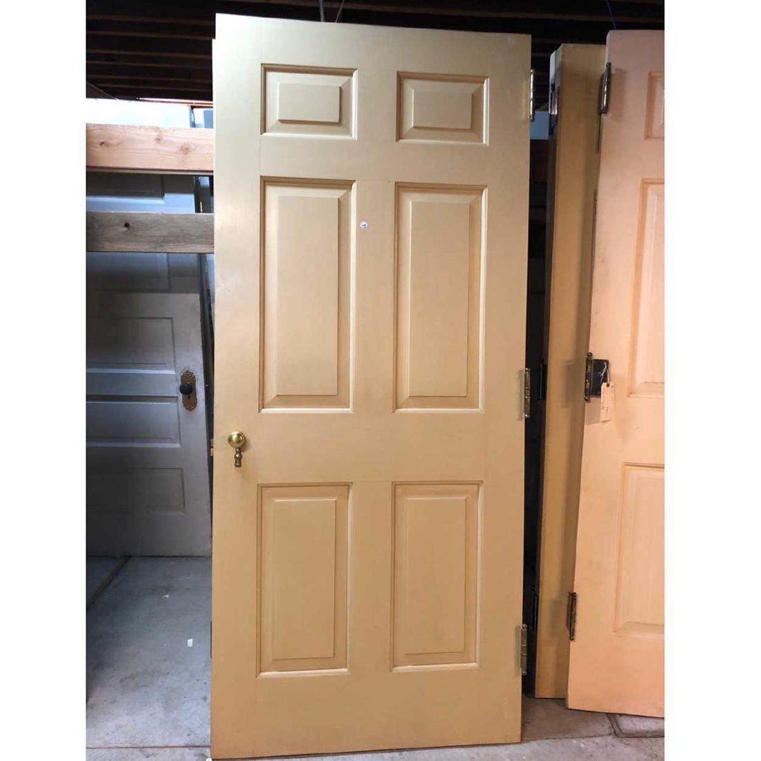 4 American Georgian Style Painted Single Doors